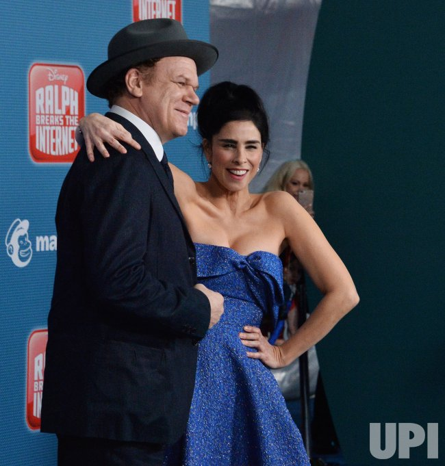 John C Reilly And Sarah Silverman Attend The Ralph Breaks The Internet Premiere In Los Angeles Upi Com