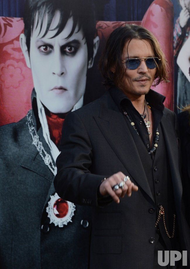 "Johnny Depp attends the ""Dark Shadows"" premiere in Los Angeles"