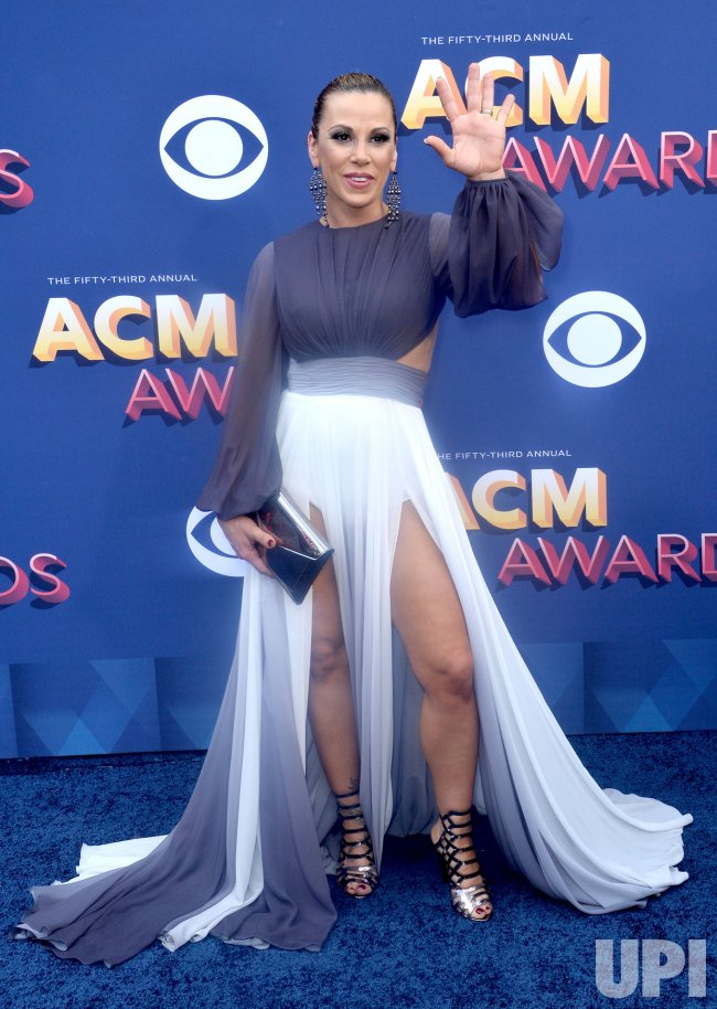 Mickie James attends the 53rd annual Academy of Country Music Awards in Las Vegas