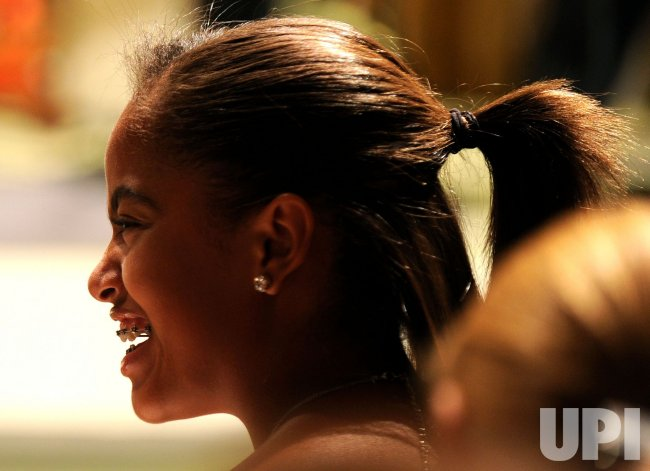 Malia Obama attends a White House music series concert saluting Broadway in Washington