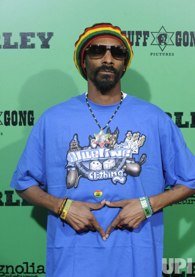 "Snoop Dogg attends the premiere of the film ""Marley"" in Los Angeles"