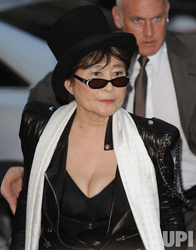 Yoko Ono attends the GQ Awards in London