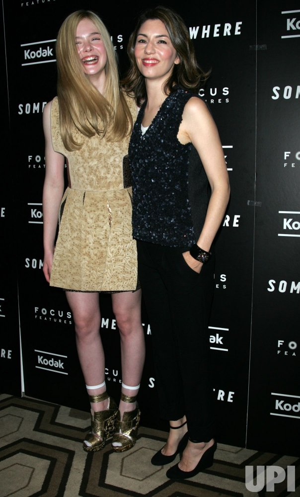 """Elle Fanning and Sofia Coppola arrive for the Special Screening of """"Somewhere"""" in New York"""
