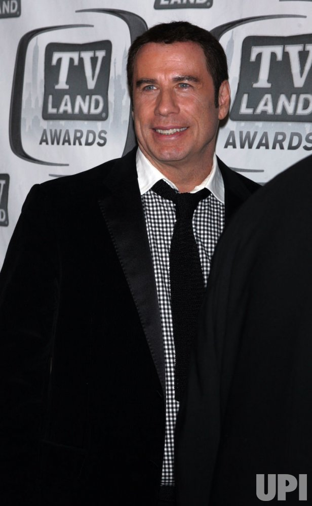 John Travolta arrives for the TV Land Awards in New York