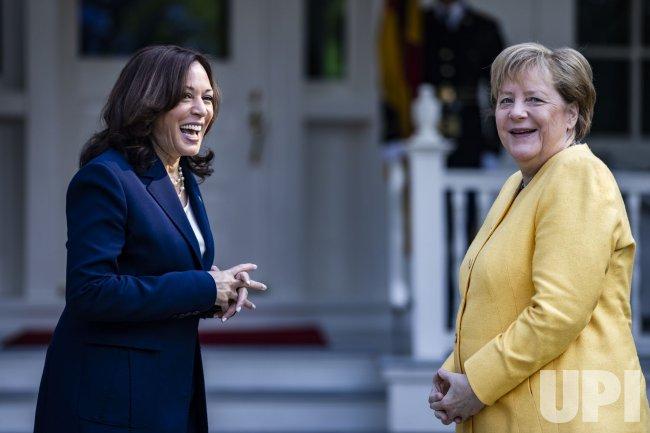 Vice President Harris Welcomes Chancellor Merkel in Washington