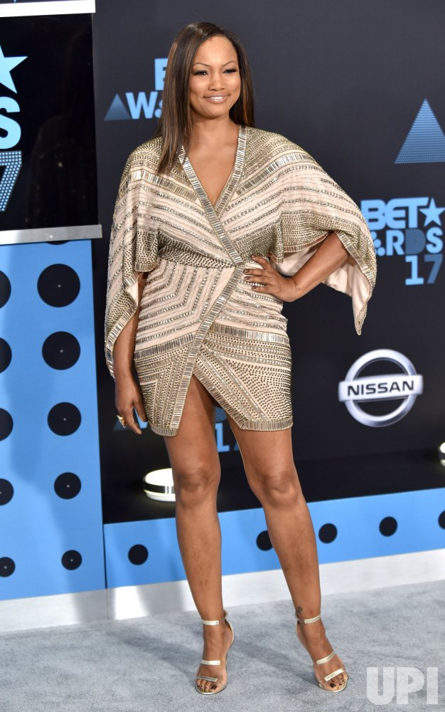 Garcelle Beauvais attends the annual BET Awards in Los Angeles