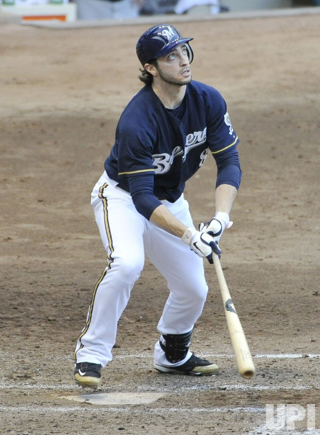 Brewers Braun hits RBI double during NLCS in Milwaukee, Wisconsin