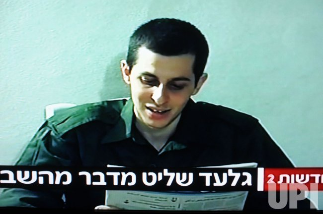 A still photo from the video of kidnapped Israeli soldier Gilad Shalit in Gaza