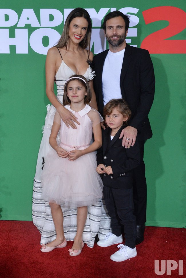 "Alessandra Ambrosio and family attend the ""Daddy's Home 2"" premiere in Los Angeles"
