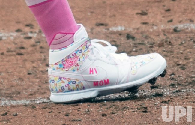 St. Louis Cardinals Catcher Yadier Molina And His Shoes
