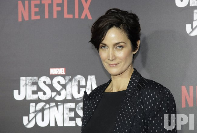 Carrie-Anne Moss arrives at Jessica Jones premiere