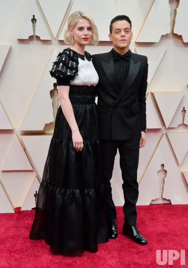 Lucy Boynton and Rami Malek arrive for the 92nd annual Academy Awards in Los Angeles