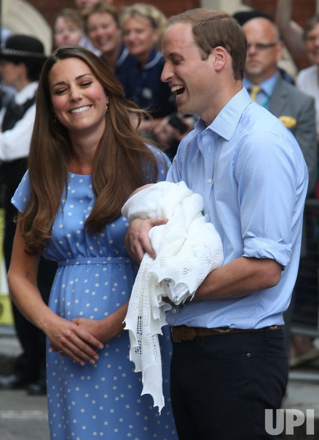 The Duke and Duchess of Cambridge and their new baby.