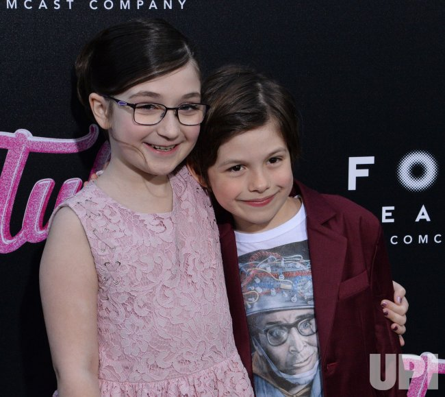 "Lia Frankland and Asher Miles Fallica attend the ""Tully"" premiere in Los Angeles"