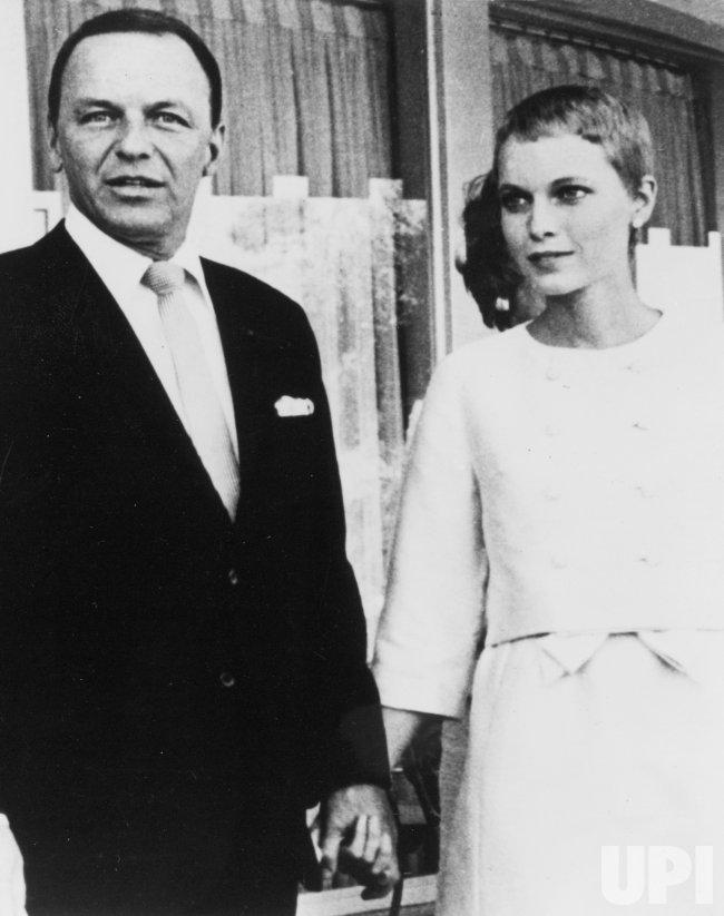 Frank Sinatra and Bride Mia Farrow