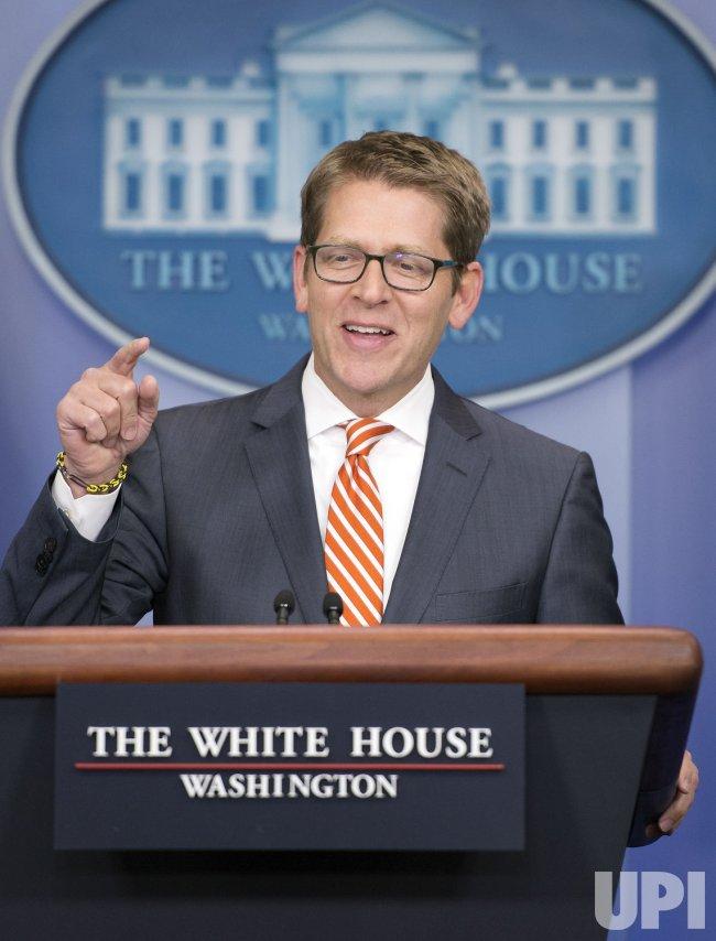 Press Secretary Jay Carney daily Press Briefing in Washington, D.C.
