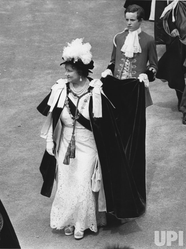 The Queen Mother Elizabeth in the annual Order of the Garter Ceremonial Parade