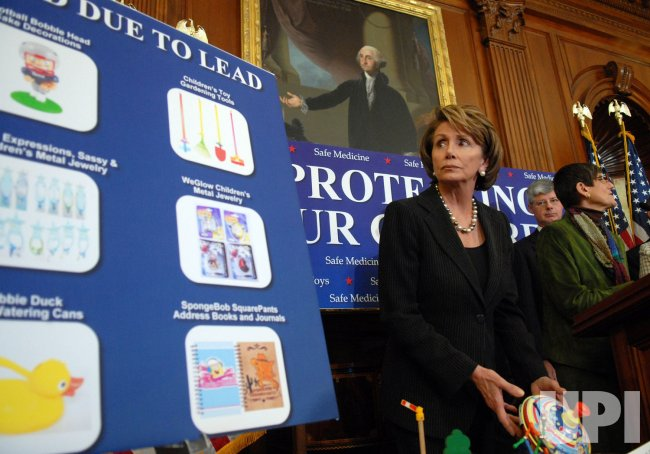 Pelosi calls for increased toy and product safety in Washington