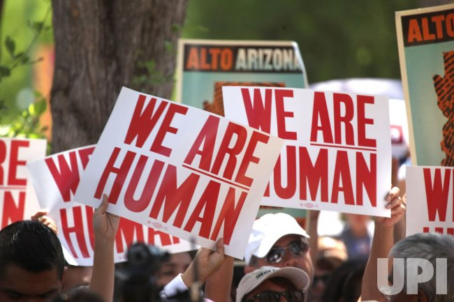 Demonstrations protest against Arizona Imigration Bill in Phoenix