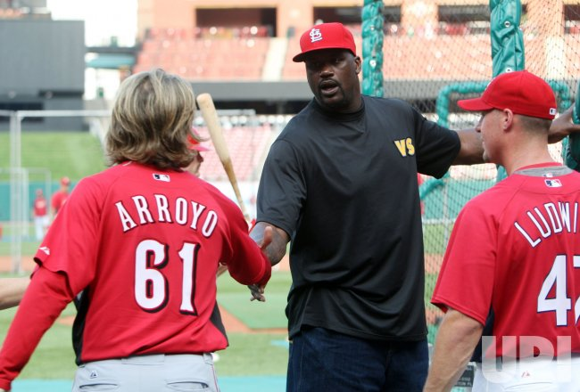 Shaquille O'Neal at Busch Stadium