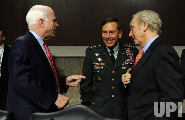 Army Gen. Petraeus testifies before Senate Armed Services Committee on Afghanistan in Washington