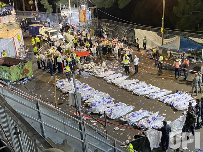 Body Bags Are Lined Up After A Deadly Stampede In Israel