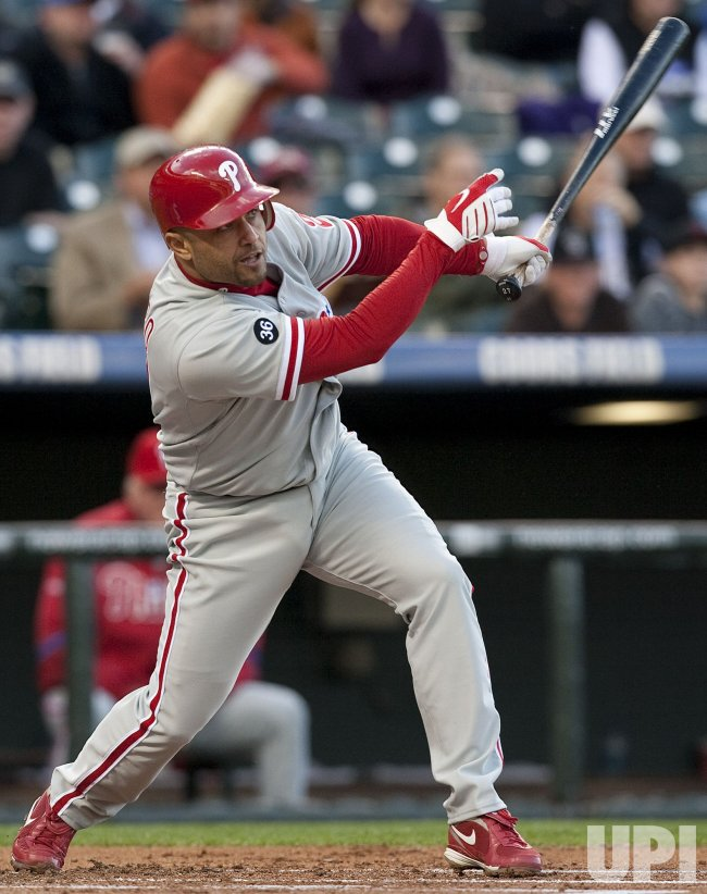 Phillies Polanco Hits RBI Sacrifice Fly Against the Rockies in Denver
