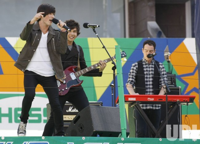 Allstar Weekend performs at Arthur Ashe Kids' Day at the US Open in New York