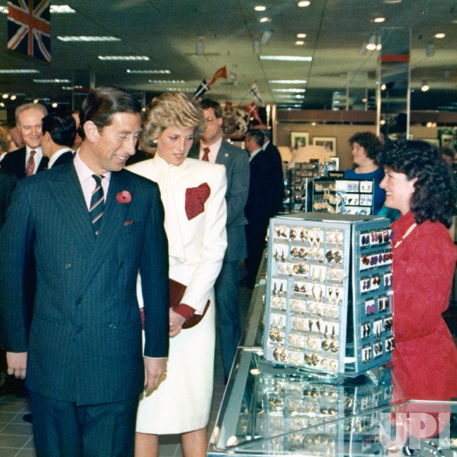 Princess Diana and Prince Charles visit J.C. Penney's at Springfield Mall