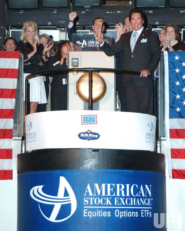 WAYNE NEWTON AT AMERICAN STOCK EXCHANGE