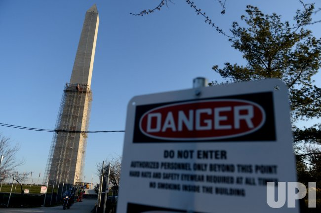 Washington Monument repairs in Washington