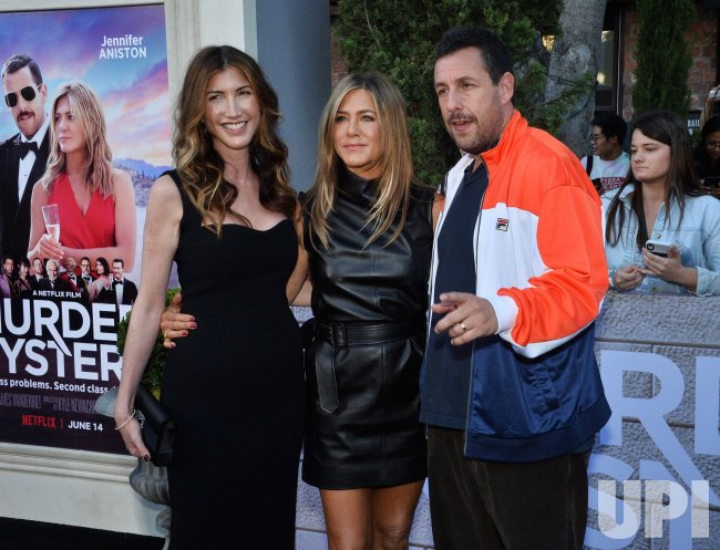 "Adam and Jackie Sandler attend the ""Murder Mystery ..."
