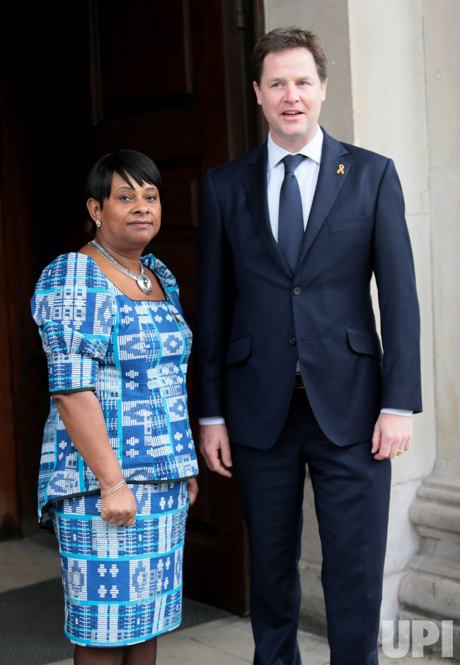 Nick Clegg and Doreen Lawrence at Stephen Lawrence Memorial Service