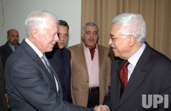 JIMMY CARTER MEETS MAHMOUD ABBAS