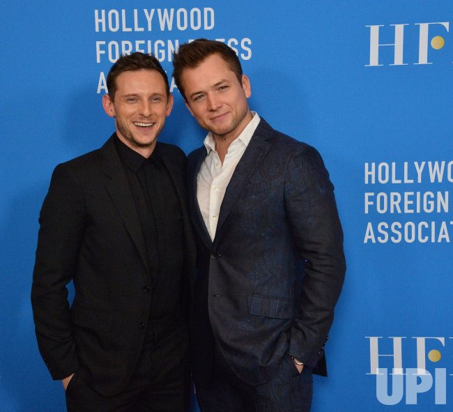 Jamie Bell and Taron Egerton attend HFPA grants banquet in Beverly Hills
