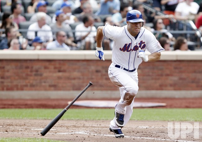 New York Mets Scott Hairston drives in 2 runs with a double at Citi Field in New York