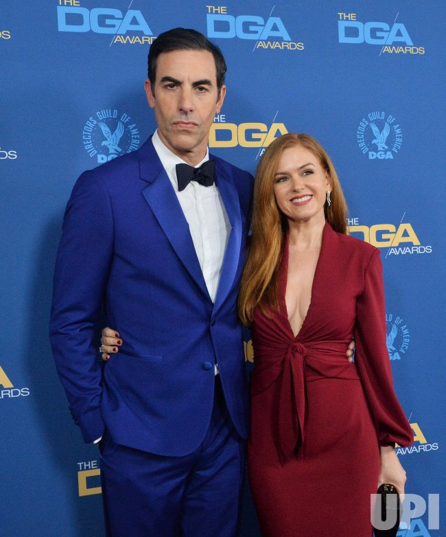 Sacha Baron Cohen and Isla Fisher attend DGA Awards in Los