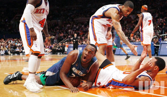 Minnesota Timberwolves vs New York Knicks in New York