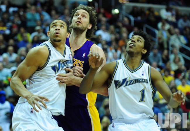Lakers Pau Gasol and Wizards' Nick Young and JaVale McGee look to rebound in Washington