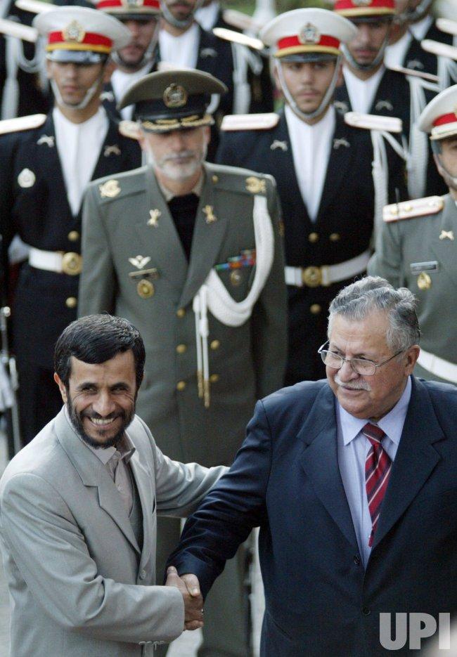 IRAQ'S PRESIDENT JALAL TALABANI IN IRAN