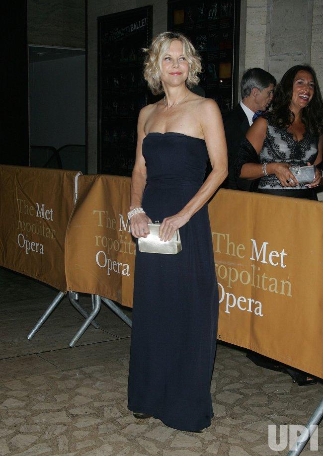 "Meg Ryan arrives for the Metropolitan Opera's ""Das Rheingold"" in New York"