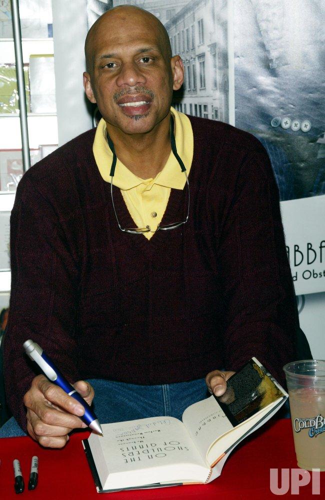 KAREEM ABDUL-JABBAR BOOK SIGNING