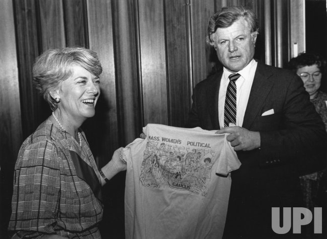 Rep. Geraldine Ferraro with Sen. Edward Kennedy at Massachusetts State Democratic Convention