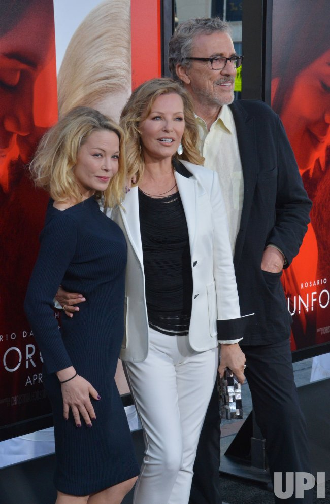 "Cheryl Ladd, Jordan Ladd and Brian Russell attend the ""Unforgettable"" premiere in Los Angeles"