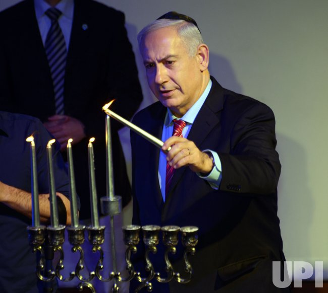 Israeli Prime Minister Benjamin Netanyahu Hanukkah, Jerusalem