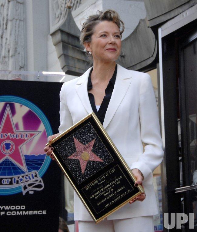 ACRESS ANNETTE BENING RECEIVES STAR ON HOLLYWOOD WALK OF FAME