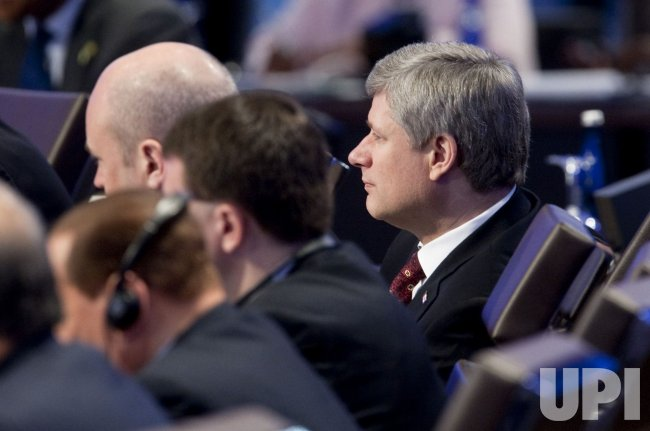 Candian Prime Minister Stephen Harper attends the Nuclear Security Summit in Washington