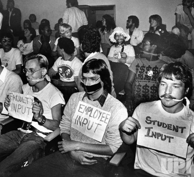 Anti Apartheid Protests at UC in San Francisco