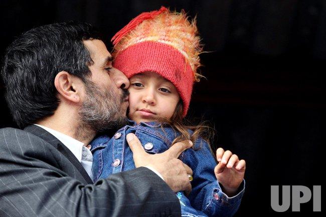 Iran's President Mahmoud Ahmadinejad visits city of Bushehr in Iran