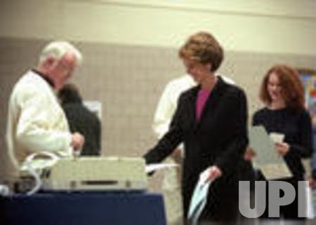 Lt. Gov. Kathleen Kennedy Townsend heads to the polls